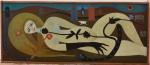 Waldeny Elias, Óleo sobre eucatex, Marisa, 1966 -med. 50x 121cm
