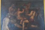 Artista europeu não identificado,séc XVII, Óleo sobre tela, Cena Renascentista -med. 50x65cm