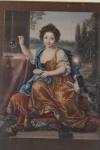 La Duchesse du Maine (Anne-Louise-Bénédicte de Bourbon-Condé) Esposa de Luis Augusto de Bourbon, Duque de Maine 1676-1753 Tableau Peint par Pierre Mignard Vers 1682 -med. 44x34cm