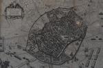 Antiga carta topográfica européia `Milano Presso Francesco Colombo Cidade di San Martino nº549 A=Prezzo di Questa Carta Topografica Italiane  Lire Due` -med. 51x58cm