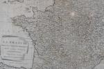 Antigo mapa veneziano representando a França no ano de 1792 impresso por Antonio Zatta e Filho -med. 45x63cm