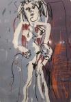 Iberê Camargo, serigrafia não assinada, série Manequins -med. 69x48cm