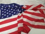 Bandeira dos Estados Unidos da América - Mede aproximadamente 150 x 85 centímetros.