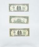 CILDO MEIRELES  (Rio de Janeiro, 9 de fevereiro de 1948) - Zero dólar Três raras cédulas de coleção,emolduradas. Este trabalho pertence à série Árvore do Dinheiro (Money Tree, 1969) em que Meireles analisa o paradoxo do valor simbólico em relação ao valor real das coisas e ele questiona as diferenças entre o valor real, simbólico e de câmbio. A fim de aprofundar esta análise do valor, de 1974 a 1978, ele se aventurou para o terreno de falsificação artística e produziu, como uma paródia, Zero cruzeiro (Zero Cruzeiros) e Zero centavo (Zero Centavos), reduzindo o valor de dinheiro para nada. Ele também substituiu as figuras ilustres que geralmente decoram notas com dois indivíduos que são, teoricamente, à margem da sociedade brasileira: um interno de um hospital psiquiátrico em Trinidad e um índio Kraô. Zero dólar (Dólar Zero, 1978-1984) e Zero cento (Zero Cêntimos, 1978-1984), ele investiga o significado da monetária, por entender moeda estrangeira, como uma representação icônica de um país. Nestas obras o dinheiro torna-se um paradigma da relação entre matéria e símbolo, uma vez que pode ser as duas coisas ao mesmo tempo. Med 44x36 cm (Com moldura).