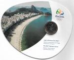 BLISTER OFICIAL DA CASA DA MOEDA DO BRASIL - ENTREGA DA BANDEIRA OLIMPICA - ANO DE 2012 - ESTIMATIVA DO VALOR DE COMERCIO R$ 180,00 - CONSERVAÇÃO: FLOR DE CUNHO