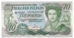 CEDULA DE FALKLAND ISLANDS - 10 POUNDS  - ANO DE 1986 - CATALOGO INTERNACIONAL: #14a - VALOR DE MERCADO R$ 600,00 - CONSERVAÇÃO: FE = FLOR DE ESTAMPA