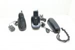 DIVERSOS - Lote de 3 telefones antigos, sendo 2 sem fio. Marcas: MOTOROLA, GE E SIEMENS. Sem garantia de funcionamento.