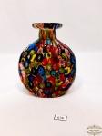 Vaso  floreira em vidro de murano mili fiore. Medida 13,5 cm de altura, 12 cm de largura.