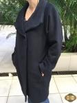 Casaco Coat de lã longo  Gerard Darel tamanho M preto, super elegante, em perfeito estado
