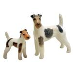 2 cachorros dinamarqueses. 12 x 11 cm / 8 x 10 cm.