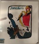 """Edina dos Reis, pintura sobre espelho """"Jane Avril"""" medindo 40 cm por 40 cm."""