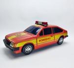 Estrela - Brinquedo Monza Bombeiro - Bate volta manufatura Estrela, com todos seus adesivos originais e conservado, funcionando, menos suas lâmpadas do giroflex, o encaixe do lado direito da roda está quebrado
