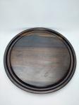 Antiga Bandeja em madeira sendo embuia do Design Jean Dobre, Tropic art, industria brasileira 29x29 cm