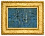 Antonio Bandeira (Fortaleza/CE, 1922 - França, 1967). CIDADE ILUMINADA. Óleo sobre tela. 38 x 54 cm (mi). 61 x 78 (me). Assinado Bandeira (cid). Pertenceu à Coleção Antonio Silva da Cunha Rocha (1932-2016), pintor e colecionador português. Em perfeito estado. Excepcional. Raridade.