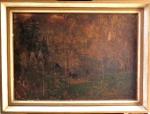 Constantin Gorbatoff (Russo 1876-1945)                                                                                      Gravura colada sobre Eucatex . Com etiqueta de exposição                                                                 Alemã  Galeria Heuberger. No verso.                                                                                                Med.  Alt. 80 x Larg. 1.05 cm. c/ mold.   62 x 87 cm. s/ mold.