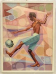 Renato Martins Dias (Bras. 1959 - Ativo)   Nasce um Craque                                                                                                  Acrílica sobre tela.                                                                                                     Assinado, Renats.  c.i.d  e no verso datado 2015                                                                                       Medalha de Bronze Clube Militar  RJ 2015                                                         Med. 80 x 60 cm.