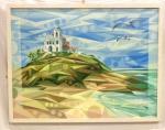 Renato Martins Dias (Bras. 1959 - Ativo) Saquarema                                                                                                  Acrílica sobre tela.                                                                                                     Assinado, Renats.  c.i.d                                                                                                                                                      Med. 60x 80 cm.