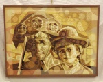 Renato Martins Dias (Bras. 1959 - Ativo) Lampião                                                                                                              Acrílica sobre tela.                                                                                                  Assinado, Renats.  c.i.d                                                                                                   e no verso datado 28/08/2013                                                                                                                                                     Med. 60 x 80 cm.