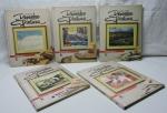 COLEÇÃO - Curso de desenho e pintura, composta de 5 volumes, capa dura.