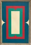 IVAN SERPA - (Rio de Janeiro, 1923 - idem, 1973 ) - Elegante obra em óleo sobre tela, de estilo contemporaneo, protegida por moldura de madeira, dito baguete, assinada no verso, datada 14/07/68. Medida total 63 x 43 cm.