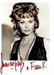 GENEVIEVE PAGE - Rara fotografia autografada de próprio punho pela  atriz francesa Geneviève Page, medindo 10 x 14,5 cm.