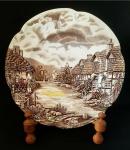 Johnson Bros - Prato raso em porcelana Inglesa, coleção Country Side