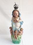 ART SACRA  -   escultura em terra cota, representando Nossa Senhora da Conceição, assinado DET..  mede  40 cm de altura.
