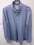 Vintage Superdry, camisa azul de algodão XL made in Japan super transada, com detalhes  diferenciados do tecido aos botões e à forma prática de conservar, compr: 68cm / larg: 48cm / manga: 68cm
