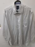 Brooksfield, camisa 5 de algodão listado azul, compr: 68cm / larg: 54cm/ manga: 57cm