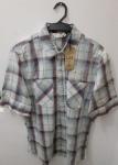 Lei, camisa manga curta de algodão 2/S sem uso, compr: 67cm / larg: 50cm