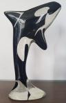 Palatnik, orca em resina, 24x14cm (Obs.: duplicata da mesma peça arrematada em nosso leilão de setembro parte do acervo de um dos maiores colecionadores do Brasil)