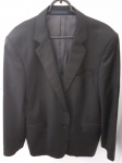 Paco Rabanne, blazer preto 54L lã fina leve, Dormeuil Essential (luxo em dobro), compr: 77cm / ombro: 46cm / manga: 64cm