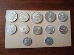 Lote de moedas exóticas nunca circuladas em alumínio