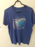 Richards, camiseta 1 azul royal de algodão, compr: 59cm / larg: 48cm