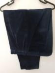 Lord & Taylor, calça de veludo cotelê marinho de algodão repelente de água e resistente a manchas (de Ball Cord) da tradicional loja nova iorquina, compr: 103cm / cint: 50cm