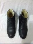 Par seminovo de meias botas masculinas de couro macio, nº 41