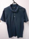 Zara Man Basic, polo 4 de algodão azul, compr: 68cm / larg: 44cm