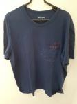 Casual, camiseta XL azul de algodão, compr: 59cm / larg: 54cm