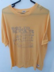 Gola (British Sport Brand Since 1905), camiseta XL amarela vintage Pima cotton, compr: 67cm / larg: 54cm