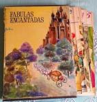 Fábulas Encantadas, box com 12 volumes grandes com as mais belas fábulas infantis ricamente ilustradas. Box avariado mas fascículos bem conservados. Marcas do tempo. No estado