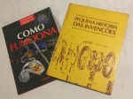 Dois livros sobre as Invenções Modernas e Como Funcionam as Máquinas. No estado.