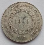 Moeda de Prata, 1000 Réis 1857