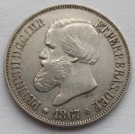 Moeda de Prata 500 Réis 1867 CL