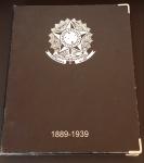 Álbum Moedas de luxo nº 1 República Réis 1889 - 1939 usado, conforme foto