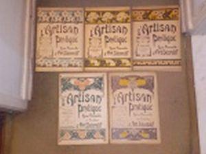 "LIVRO (5) - Cinco revistas do princípio do século XX ""L'Artisan Pratique""  Revue Mensuelle d'Art Decoratif."