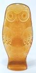 PALATNIK  Escultura cinética representando grande coruja amarela em resina de poliéster de manufatura Abraham Palatnik. Medindo 39 cm de altura por 19 cm de comprimento.