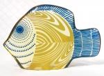 PALATNIK  Escultura cinética representando peixe em resina de poliéster de manufatura Abraham Palatnik. Medindo 8,5 cm de altura por 13 cm de comprimento.