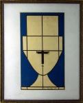 Milton Dacosta (1915-1988). FIGURA COM CHAPÉU. 1958. Nanquim e caneta hidrocor sobre papel. 14 x 24 cm (mi); 25 x 31 cm (me). Assinado e datado M Dacosta 58 (cid). Alguma sujidade.