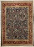 TAPETE - Tapete oriental, policromado, cores predominantes vermelho e azul. Med. 285x205 cm.
