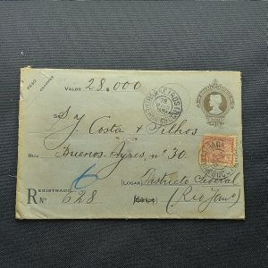 Envelope circulado para Distrito Federal